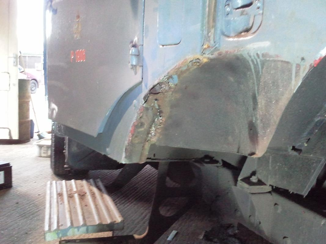 Rust in the vehicle body