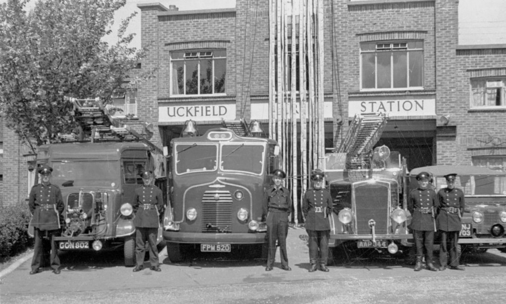 Fordson 7V at Uckfield Fire Station in 1952